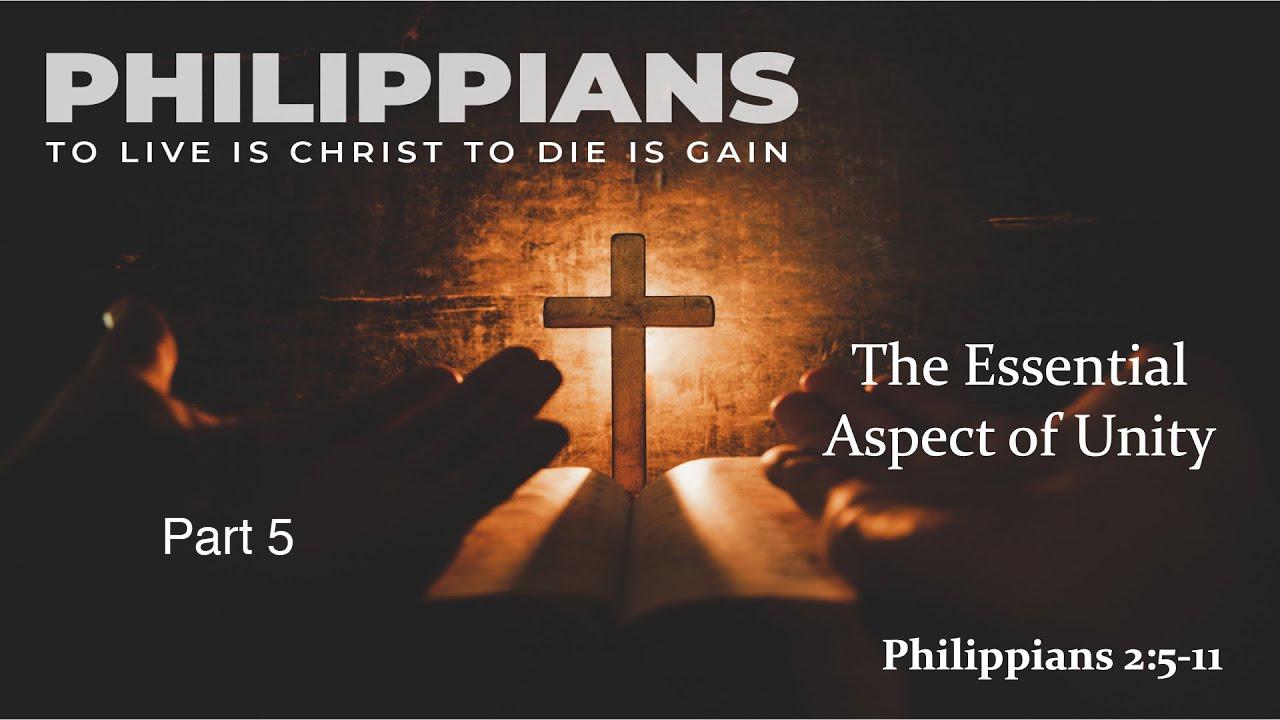 April 11,2021 The Essential Aspect of Unity Pastor Steve Winstead