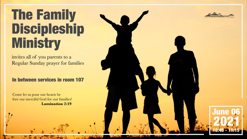 Family Discipleship Prayers on Sunday between services